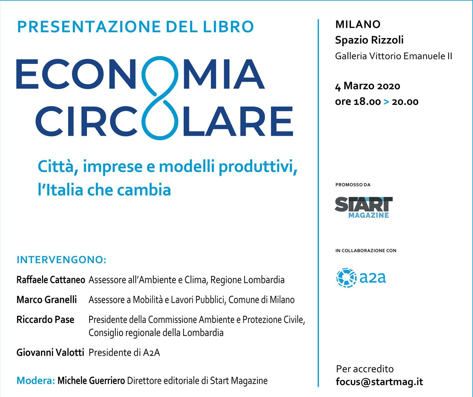 Start Magazine Presenta Il Libro Economia Circolare A Milano Il 4 Marzo